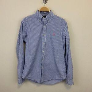 Polo Ralph Lauren Blue Striped Button Down Shirt M